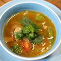 365日汁物レシピNo.159「トマトとバジルのイタリアンスープ」