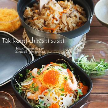 【レシピ】炊き込みちらし寿司(←ちらし寿司のハードルがぐっと下がる超簡単ちらし寿司)