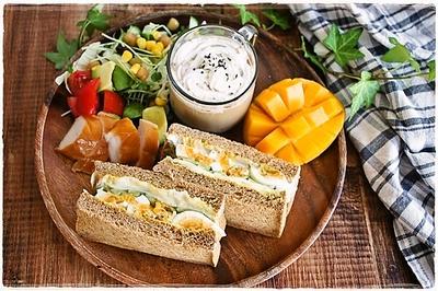 ライ麦パンの朝ごはん~ゆるゆる糖質制限中~
