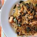 生姜で体もほかほか!鮭と納豆の和風パスタ