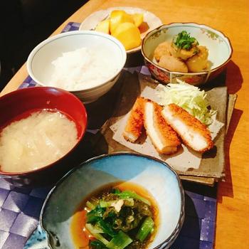 常備菜で朝御飯