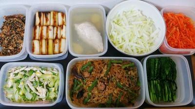 2015/3/15常備菜(豚もも肉の利休焼きなど)