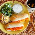 ワンプレート朝食~柿とクリチのデザートサンド~
