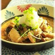 鶏肉ときのこ のサッパリ生姜おろし煮。