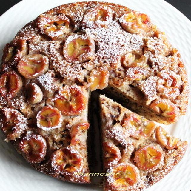ストウブで☆メープルウオルナッツバナナケーキ