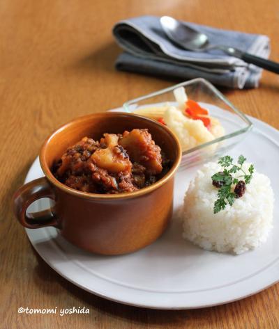 発芽大麦レシピ②根菜のキーマカレー