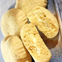 糖質制限★スライスチーズ入りカレー蒸しパン♪