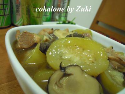 >夜開花(ユウガオ)と鶏のオイスターソース煮 by Zukiさん