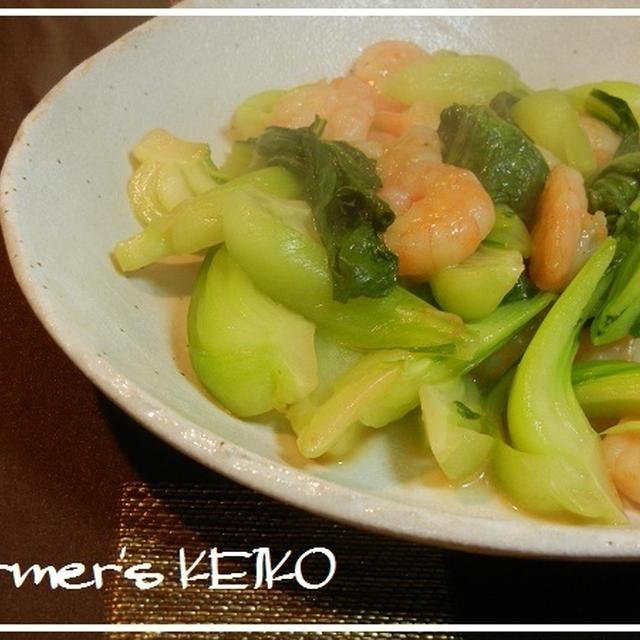 チンゲンサイの美味しい所  ~レシピは『チンゲンサイと小エビの炒め物』です~