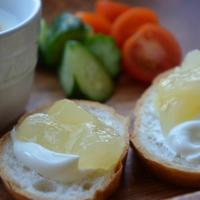 ぬるチーズと洋梨のコンフィで♪小岩井乳業モニター