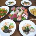 2010年大晦日にいただいたお料理と2011年新年にいただいたお料理