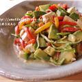 アボカドとパプリカ入り♪アンチエイジングな豆腐サラダ