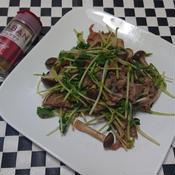 豚肉と豆苗のガラムマサラ炒め