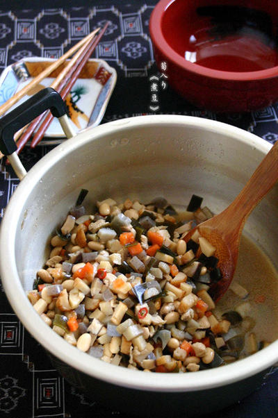 筍入り【煮豆】