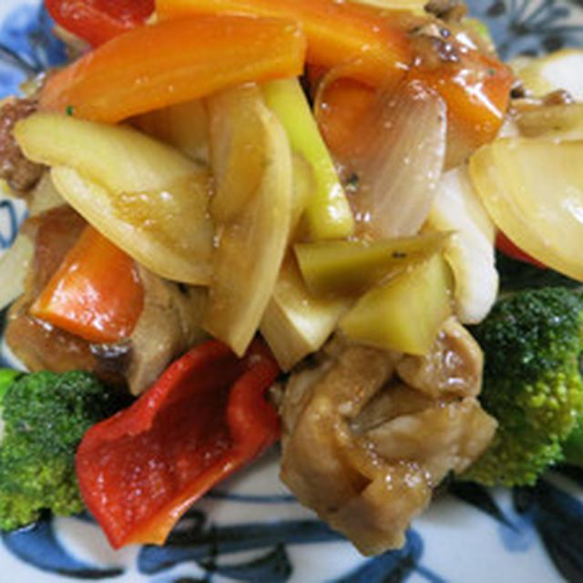 色々野菜の酢豚風