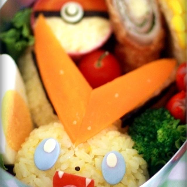ポケモン☆ビクティニのお弁当&簡単モンスターボールレシピ♪