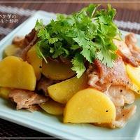 香りソルトで簡単♪ 豚肉とじゃが芋のレモンソルト炒め