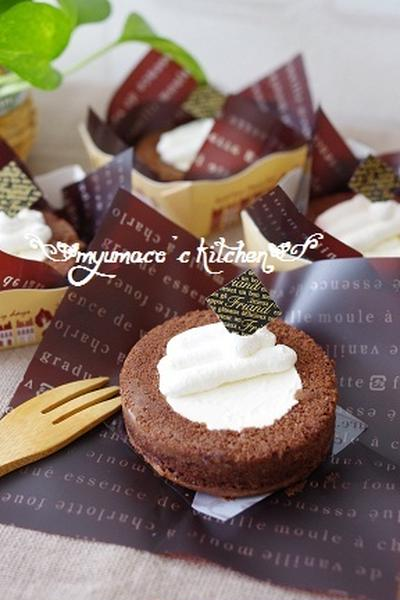 HMで簡単ココアロールケーキ