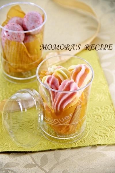 お花見やプレゼントにピッタリなお菓子2品をsuipaのカップで♪苺のスノーボール&ハートの絞り出しクッキー