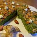 小松菜と落花生とホワイトチョコブラウニー