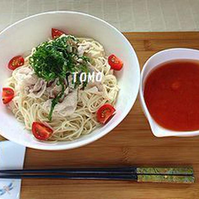 つるっと素麺♪トマトダレつけ素麺
