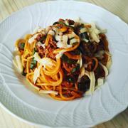 【レシピ】お好み焼きソースでナポリタン♪脱お昼ごはんマンネリ^^。