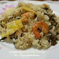 <醤油麹で高菜と海老のピリ辛炒飯>