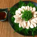 盛り付けは雰囲気。お刺身風の塩レモンポン酢しゃきささみ(糖質3.2g) by ねこやましゅんさん