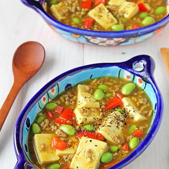 子供も大人も大好き!簡単カレーマーボー豆腐