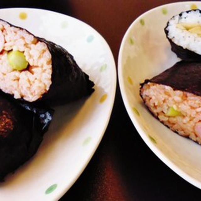 美味しい焼海苔で2種のおにぎらず…ちょっと失敗(汗)