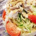 夏こそ食べたい!~野菜たっぷり豚しゃぶゴマだれヤサ麺 by ゆりぽむさん