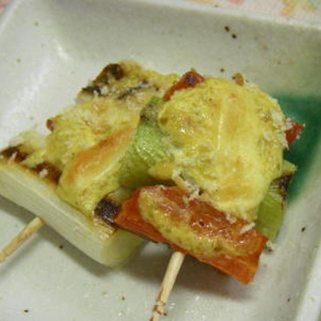 野菜料理:白ねぎの柚子胡椒焼き