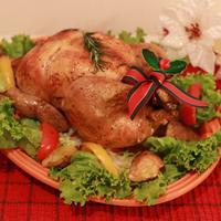 皮はパリッとお肉はジューシーローストチキンでクリスマス