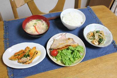 豚のレモン味噌漬けとかぼちゃのチーズ焼きと玉子の鶏がらスープでうちごん(レシピ付)