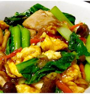 デキストリン考察「小松菜と豚バラと卵炒め」