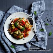 ズッキーニとトマトのペパーパスタ