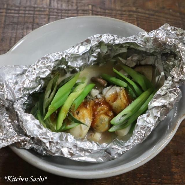 フライパンで簡単!牡蠣とエリンギのホイル焼き♡【#簡単レシピ#牡蠣】