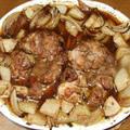 鶏モモ肉のオーブン焼き&明太子スパ