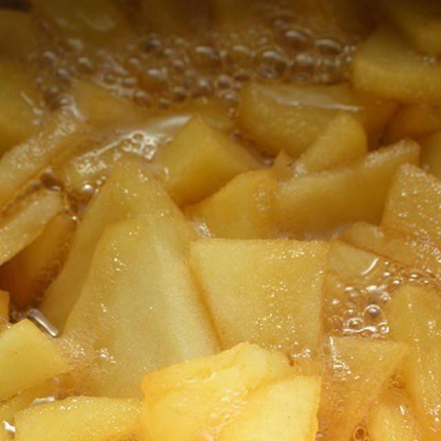 【 おやつ 】 キャラメルアップル作りと、アルミのシフォンケーキ型選び♪j