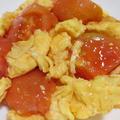 トマトと卵のオイスターソース炒め<マヨでふんわり>
