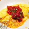 【半熟とろ〜り】海老とチーズのスパイシーオムレツ#レシピモニター #スタミナ料理 #簡単レシピ