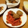 豚挽肉バスク風バーグ&カントリーポテト