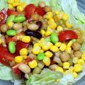 美味しい醤油を使って 醤油ドレッシングの豆サラダ☆
