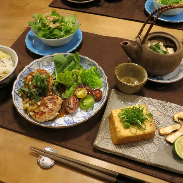 秋の味覚~松茸の土瓶蒸しの晩ご飯の晩ご飯 と 秋明菊の花♪
