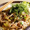 お箸で食べる夏野菜と豚肉のピリ辛和風スパゲッティ