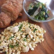 いり卵とポロポロ豆腐のチャーハン風