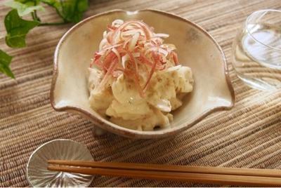 【女将レシピ】ささみと茗荷の山葵マヨ和え