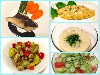 アイナメのポワレ、タコとジャガイモのジェノバ風、豆腐入り冷や汁風そうめん 7/2まとめ