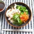 火を使わずに、鶏ハムのスープかけご飯、キムチ添え by outra_praiaさん