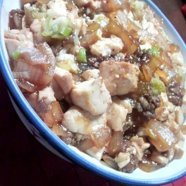 すき焼き丼 麻婆豆腐仕立て